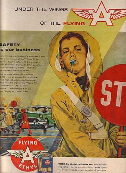 Flying A's Ethyl Gasoline (1956)
