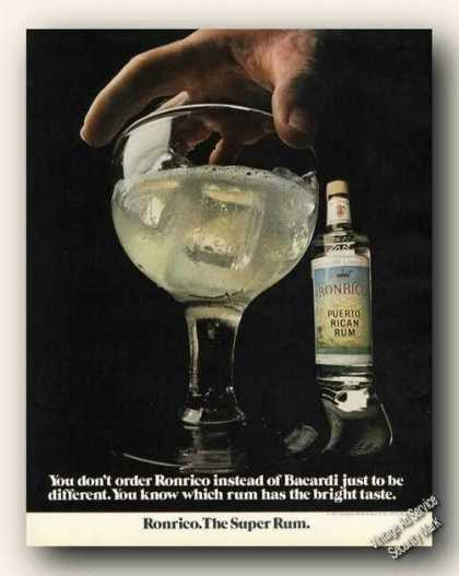 Ronrico Rum Instead of Bacardi Large Photo (1971)