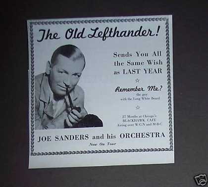 Joe Sanders and His Orchestra Tour Photo (1937)