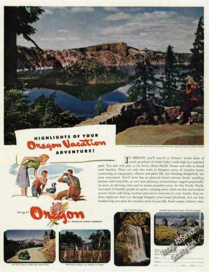 Crater Lake/silver Creek Falls Photos Oregon (1947)