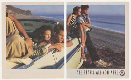 Converse Chuck Taylor All Star Shoes Malibu 2-P (1990)