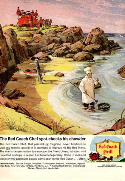Red Coach Grill Chef Cooking (1964)