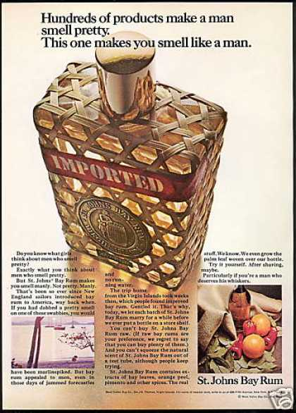 St Johns Bay Rum Men's Cologne Bottle Photo (1967)