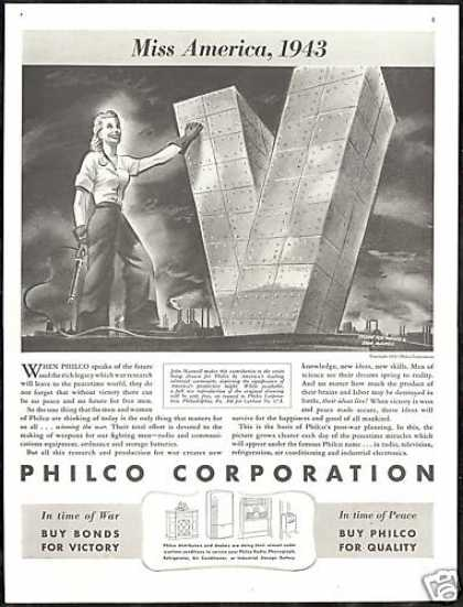 John Maxwell Art WWII Women Worker Philco (1943)