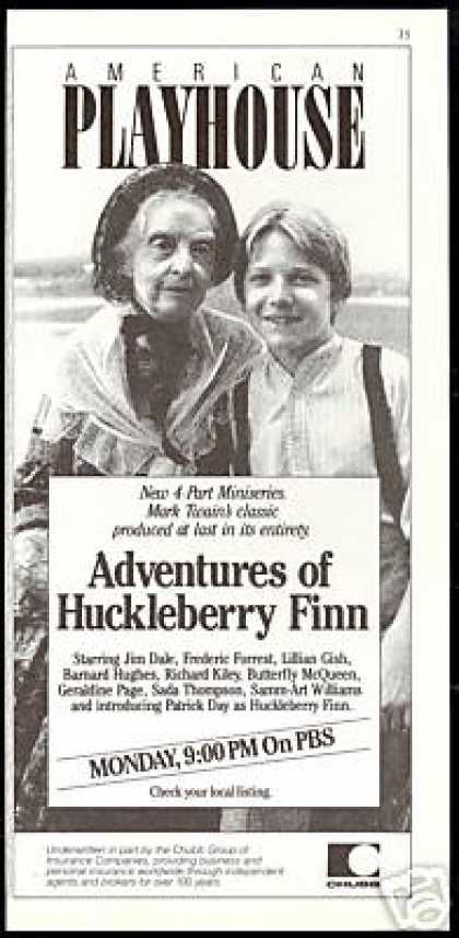 Huckleberry Finn Lillian Gish Am. Playhouse PBS (1986)