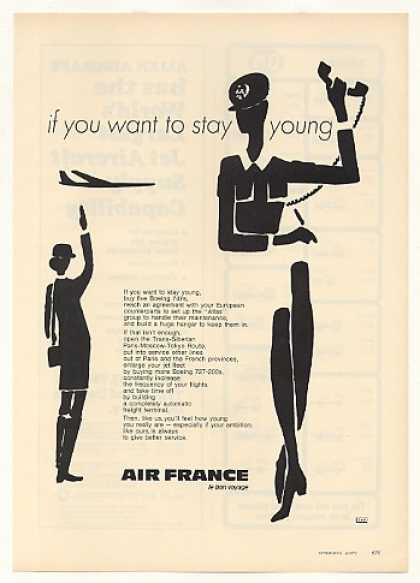 Air France Airlines Want to Stay Young (1971)