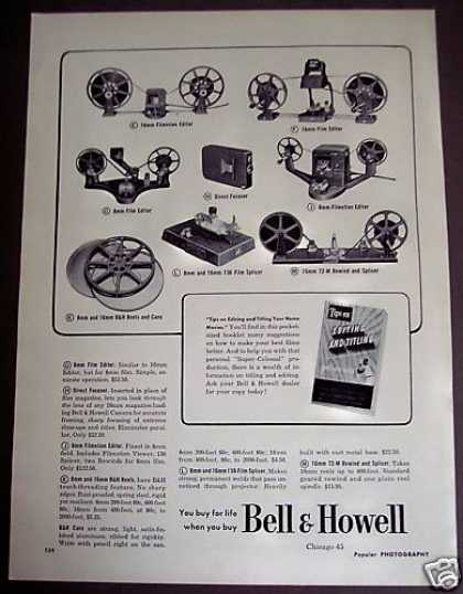 Bell & Howell Camera 16mm Film Editor Vnitage (1951)