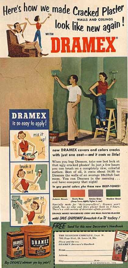 Dramex's Interior Wall Repair Compound (1954)