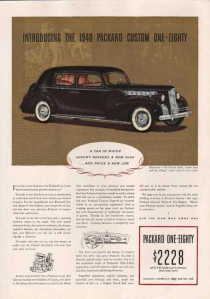 1940 Packard Custom One Eighty Black Car P (1939)