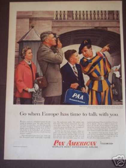 Swiss Guards Photo Pan American Airline (1956)