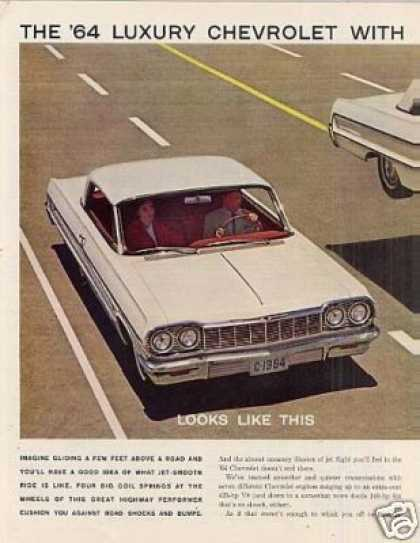Chevrolet Impala Sport Coupe Ad 2 Page (1964)
