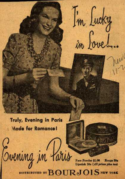 Bourjoi's Evening in Paris Cosmetics – I'm Lucky in Love!... (1944)