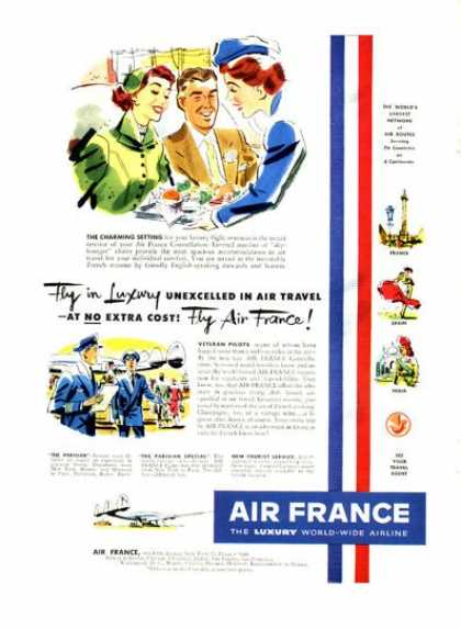 Air France Great Detailed Illustrated (1952)