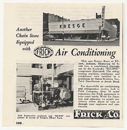 Kresge Store Elkhart IN Frick Air Conditioning (1955)