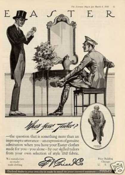 E.v. Price Co. Mens Clothing (1918)