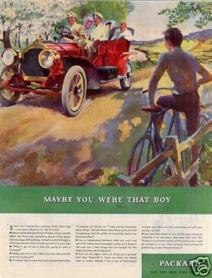 "Packard Car Color Ad ""Mabey You Were... (1934)"