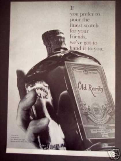 Old Rarity Finest Scotch Whisky (1966)