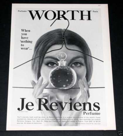 Old , Je Reviens Perfume, Worth (1964)