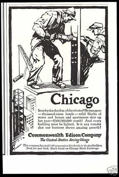 Chicago Steel Work Rivetor Commonwealth Edison (1927)
