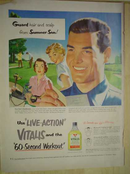 Vitalis Hair and Scalp lotion 60 second workout (1950)