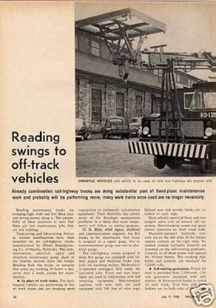 """Reading Swings To Off-track Vehicles"" Article (1966)"