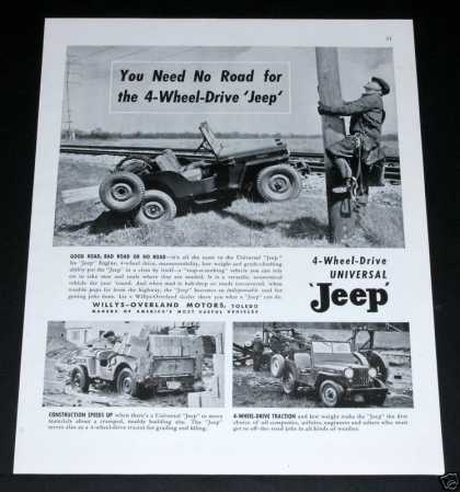 "Jeep, ""You Need No Road!"" (1948)"