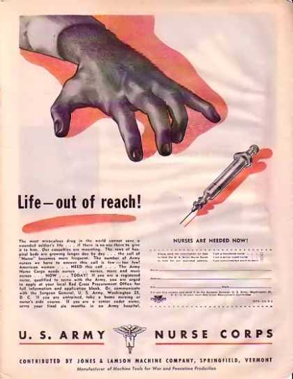 U. S. Army Nurse Corps – Life out of reach (1945)