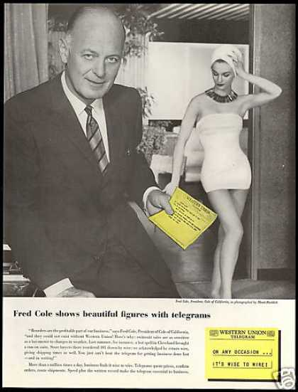 Fred Cole of California Swimsuit Western Union (1957)