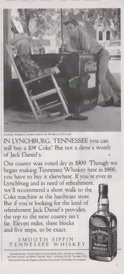 Jack Daniel&#8217;s &#8211; Coke still at a Dime (1993)