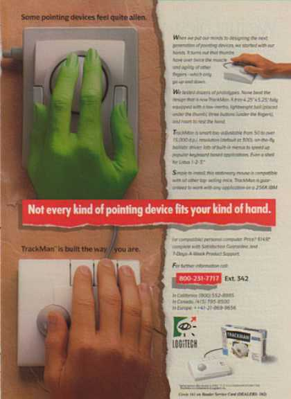 Logitech – Some pointing devices feel alien (1990)