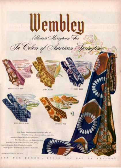 Wembly Murrytown Mens Tie (1944)