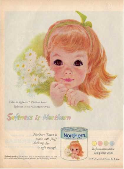Northwestern Little Girl Bathroom Decor Green Ad T (1959)