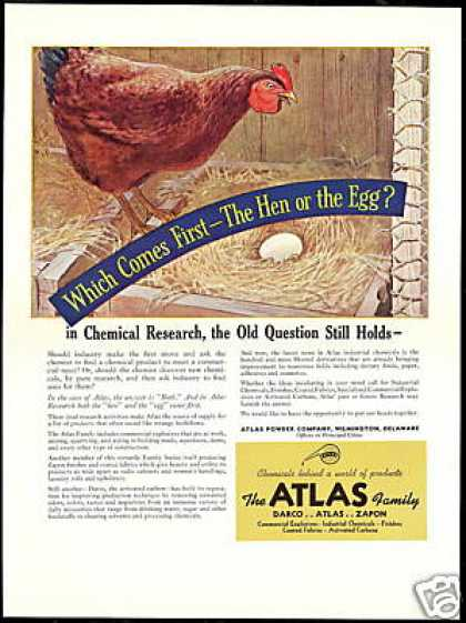 Hen or Egg Which came first Atlas Power Company (1940)