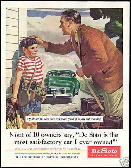 Desoto Car De Soto Howard Scott Art Growing Boy (1945)