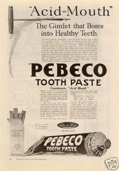 Pebco Tooth Paste (1920)