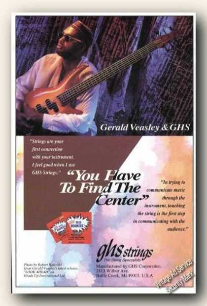 Gerald Veasley Photo Ghs Strings Promo (1994)