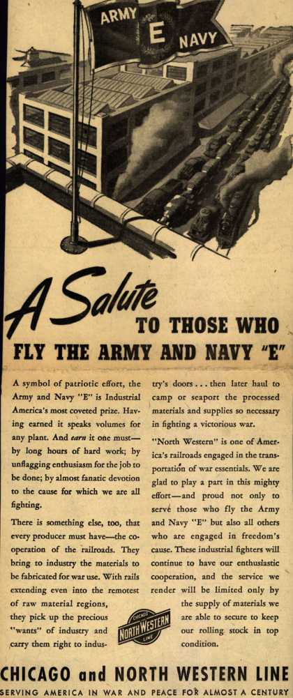 "Chicago and North Western Line's Army Navy ""E"" – A Salute To Those Who Fly The Army And Navy ""E"" (1943)"