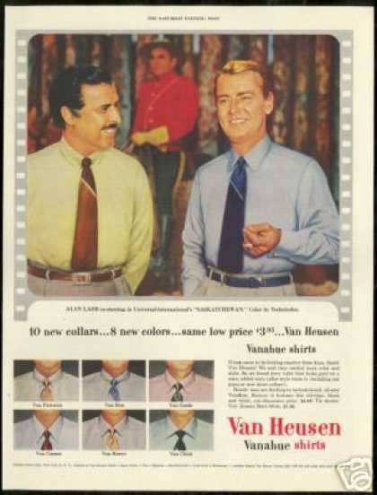 Alan Ladd Photo Van Heusen Vintage Shirt (1954)
