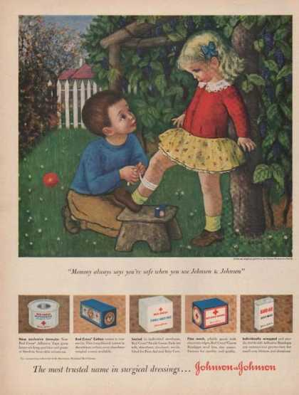 Johnson & Johnson Surgical Dressing Print (1949)