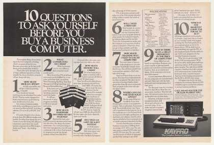 Kaypro Computer 10 Questions to Ask (1983)