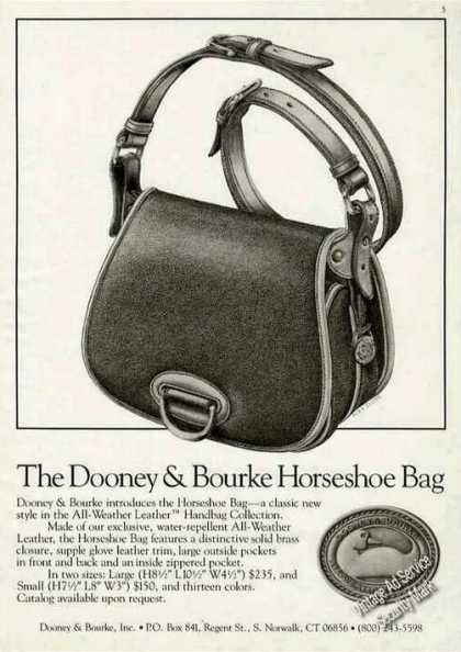 Fashion Ad &quot;Dooney &amp; Bourke Horseshoe Bag&quot; (1985)