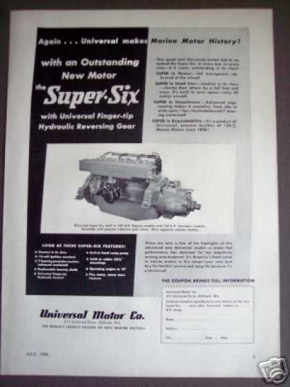 Universal Motor Co Super-six Marine Boat Engine (1950)