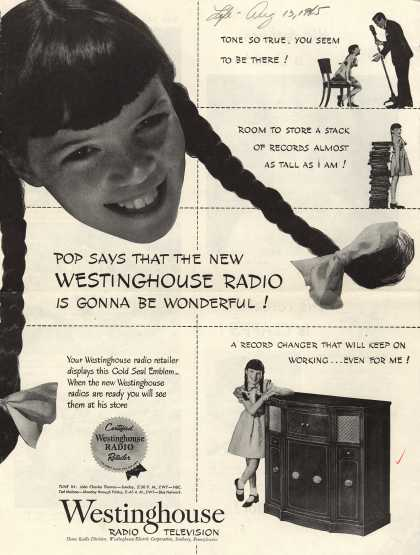 Westinghouse Electric Corporation's Various – Pop says that the new Westinghouse Radio is gonna be wonderful (1945)