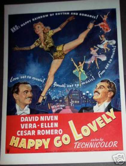 Movie Promo Happy Go Lovely David Niven Color Art (1951)