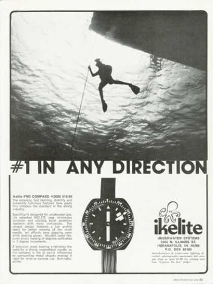 Ikelite Pro Diving Compass Model 2500 Ad T (1978)