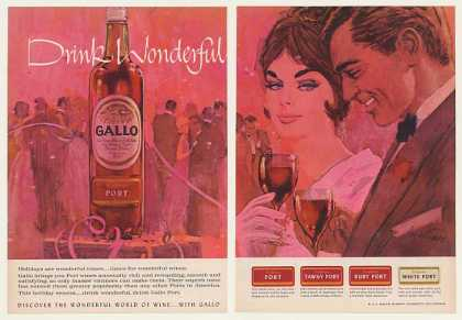 Gallo Port Wine Holiday Party art (1962)