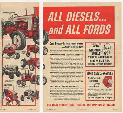 Ford All Diesel Tractor Tractors 2-Page (1959)