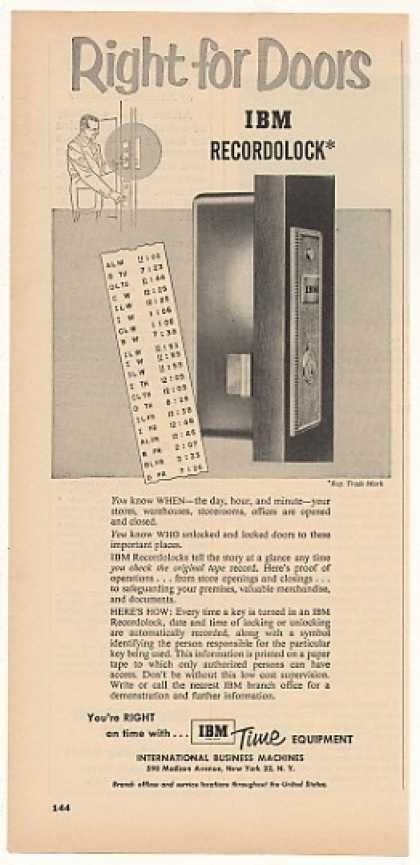IBM Recordolock Door Lock (1954)