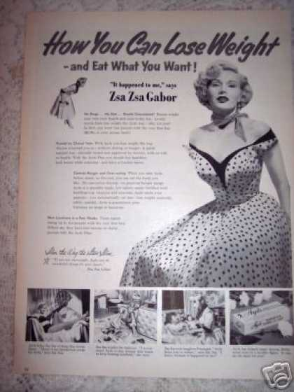 Zsa Zsa Gabor Ayds Diet of the Stars (1953)