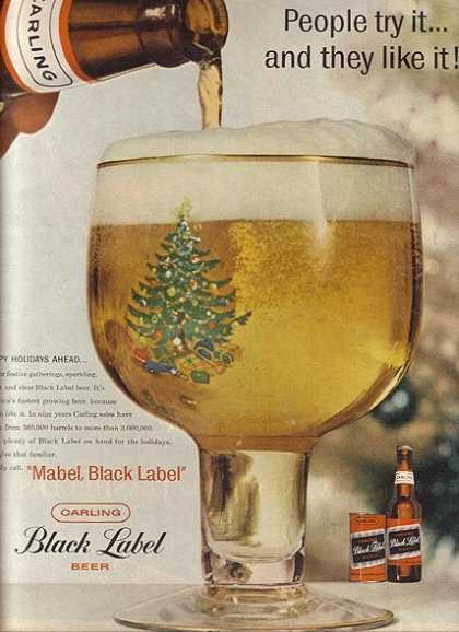 Carling's Black Label Beer (1958)